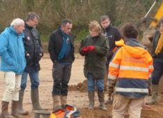visite fouilles ZAE Sant-Alar
